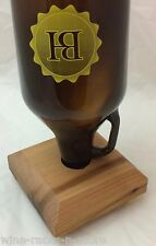 Classy Cedar Wood Draft Beer Growler Drying Stand Tool Bar Counter Pub Brewer