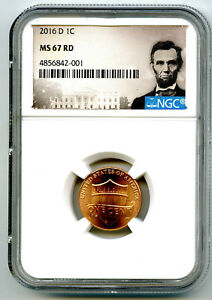 2016 D US MINT CENT UNION SHIELD NGC MS67 RD LINCOLN LABEL SUPER HIGH GRADE