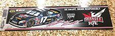 """MATT KENSETH #17 SMIRNOFF ICE RACING NASCAR CHROME BUMPER STICKER 3""""X12"""" LONG"""