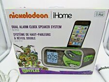 iHome Nickelodeon Teenage Mutant Ninja Turtles Dual Alarm Clock Speaker IPOD