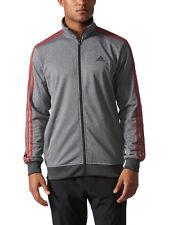 Adidas Mens Gym Essential Key Tricot Track Suit Jacket Heathered Grey SZ 2XL