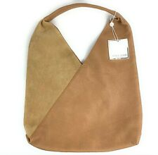 Shiraleah Chicago Arden Tote Hobo Bag Camel Tan Vegan Leather And Suede New