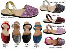Avarcas menorquinas glitter bright sandalias abarcas sandals menorca real