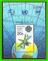 HUNGARY 1983 SPACE/COMMUNICATION YEAR S/S MNH MAPS, UPU