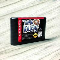 Time Killers (1996) Game Card Cartridge Sega Genesis Mega Drive System