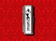 DOMINATRIX PIN UP GIRL BONDAGE GUM COTTON SWAB MAKEUP LIPSTICK CASE HOLDER