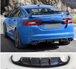 For Jaguar XF Sport 2012-15 real Carbon Fiber Rear Bumper Lip Diffuser