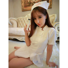 Nurse Uniform Sexy Womens Lingerie Dress Panty  Cosplay Role Play Costume LJ