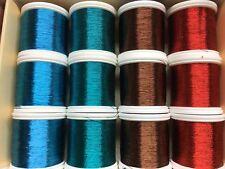 Lot of 12 Gudebrod Fishing Rod wrapping thread. 12  100 Yard Spools. Metall.