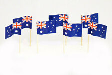 "100 Australian Australia Mini 2.5"" Flag Appetizer & Party Decoration Toothpicks"