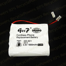 Cordless Handsets Phone Replacement Battery GD-501 3.6V 1800mAh NIMH NI-MH