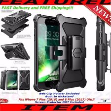 For Iphone 7 PLUS 8 Plus + Phone Case Cover With Kickstand Belt Clip Holster New