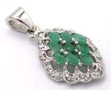 Collane e pendagli di lusso naturali smeraldo verdi