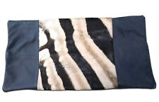 Real Zebra Pillow Case 20x11 inches real zebra hide leather pillow case NEW