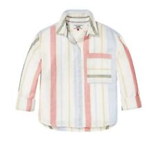 Tommy Hilfiger - Multi Stripe Cropped Shirt - XS - Brand New With Tags