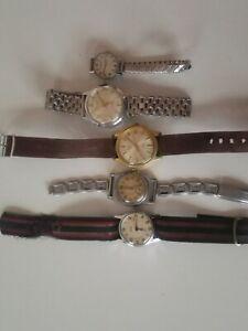 5 x vintage wristwatch's (paul jobin)