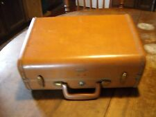 Vintage caramel brown Samsonite tapered overnite suitcase