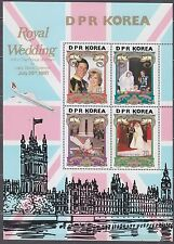 KOREA Pn. 1981 MNH** SC#2116/19  SHEET, Royal Wedding.
