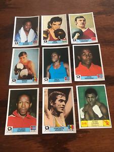 8 RARE 1976 Panini Montreal 76 BOXING CARDS  Stickers  NICE Plus 1 CAMPIONI CARD
