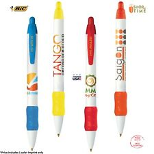 Promotional BIC WideBody Color Grip Pen Printed with your logo or Text - 300 QTY