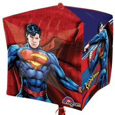 "SUPERMAN BALLOON 15"" SUPERMAN PARTY SUPPLIES ANAGRAM 3-D CUBEZ BALLOON"