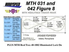 MTH 031 & 042 FIGURE 8 TRACK PACK & LOCK ON 4' x 11' O Gauge Train Track Layout