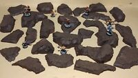 Wargaming Terrain - Large Box Set of Brown Hills Primed and Unfinished