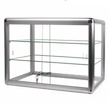 #F-1301-S Aluminum Frame Counter Top Glass 2-Shelf Display Case