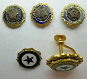 Mixed Lot of American Legion and Auxiliary Pins, Tie Tacks and a Single Earring