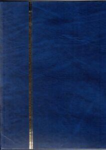 001 -  3   CLASSEURS TIMBRES  16 PAGES FOND BLANC  RELIURE  BLEUE