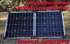 60W Portable Folding Mono Solar Panel Complete Charge Kit - Commercial  Grade