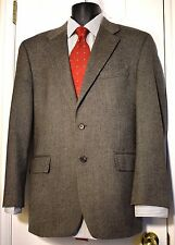 Chaps Ralph Lauren 42R 2 Mens Button Taupe Tweed 100% Lambs Wool Sport Jacket