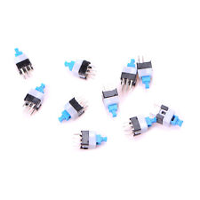 10pcs 7*7mm 6Pin Push Tactile Power Micro Switch Self lock On/Off *LA