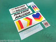 Raleigh Team Burner Custom Decals Set Old School BMX Stickers