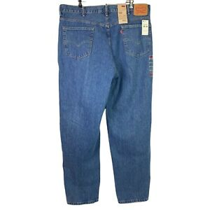 Levi's 560 Men's 42x34 Blue Denim Jeans Relaxed Taper Comfort Fit Big & Tall Red
