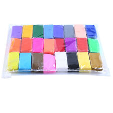 24Pcs Soft Moulding Craft Colorful Fimo Effect Polymer Clay Blocks Creative Fun