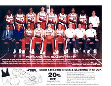 1983 1984 PORTLAND TRAIL BLAZERS 8X10 TEAM PHOTO  BASKETBALL OREGON NBA