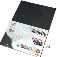A2 Black Craft Card 20 Sheets card making craft printer 160gsm