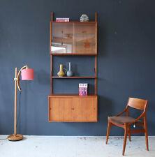 Vintage Cado Teak Wandregal Poul Hundevad Danish Mid-Century 60s Wall Unit Shelf