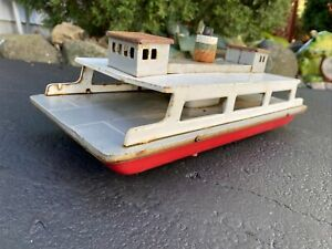 1960s Rare Tin SEARS EXCLUSIVE Turnpike Line Battery Operated Car Ferry