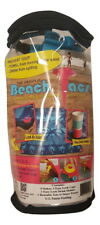 Beachtacs Lt-Blue, 8pc Set Includes Carrying Tote with Inside Pouch Beach Tacs