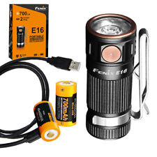 Fenix E16 700 Lm Keychain Flashlight + 2 Rechargeable Batteries & Charging Cable