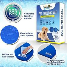 Large Dog Cooling Mat 90 x 50 cm with collapsible pet travel bowl Non-toxic