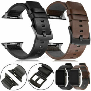 Genuine Leather Band Strap For Apple Watch SE Series 6 5 4 3 2 1 38/42/40/44mm