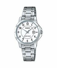 LTP-V004D-7B White Casio Ladies Watches Analog Stainless Steel Band Brand-New