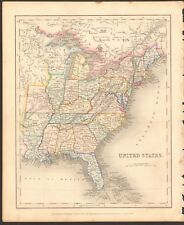 1840 ca ANTIQUE MAP - UNITED STATES, REPUBLIC OF TEXAS, HURON TERRITORY