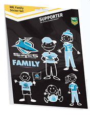 Cronulla Sharks NRL My Footy Family Sticker Sheet * 6 Images Per Packet