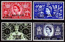 Bahrain 1953 ** Mi.89/92 Krönung Coronation QEII