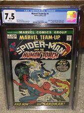 Marvel Team-Up #1 CGC 7.5 1972 Spider-Man! Human Torch! WP! New Case! G11 125 cm