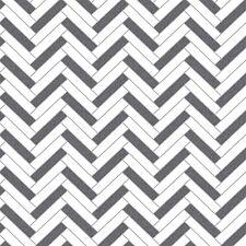 Chevron Zig Zag Wallpaper by Rasch - Black/White 888225